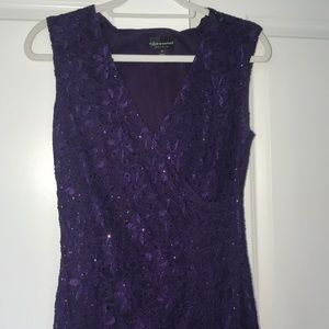Connected apparel plum lace gown